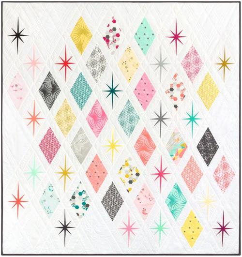 The Atomic Starburst Foundation Paper Piecing Quilt