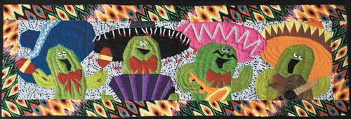 Mariachi Cactus Foundation Paper Piecing Pattern Wall Hanging or Tablerunner
