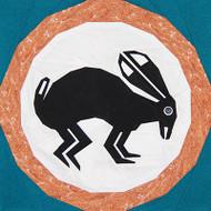 Mimbres Rabbit Foundation Paper Piecing Quilt Block