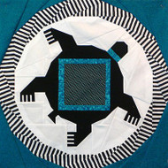 Mimbres Turtle Foundation Paper Piecing Quilt Block