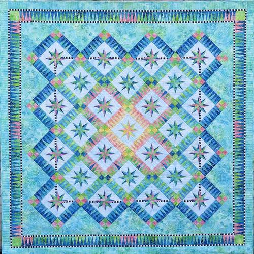 Summer Breeze Foundation Paper Pieced Quilt
