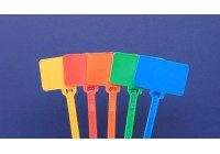 "6"" Blank Flag Marker Cable Tie - 1-7/8 x 1-1/8"""