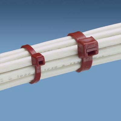 """7"""" Air Handling and Duct Tie - Burgundy"""