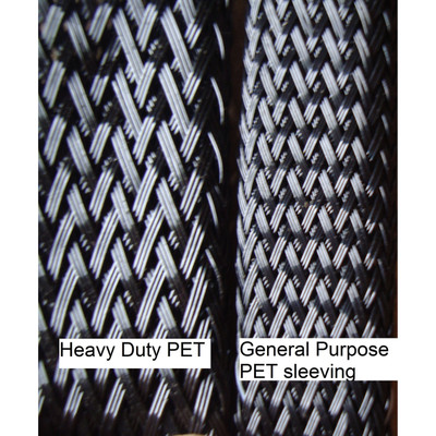 "1"" Heavy Duty PET Braided sleeving (250 ft/spool)"