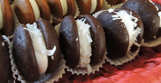 12 Pack- Medium Coconut Whoopie Pies (Birthday Party Size)