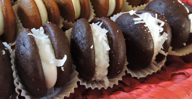 Dozen Mini Coconut Whoopie Pies
