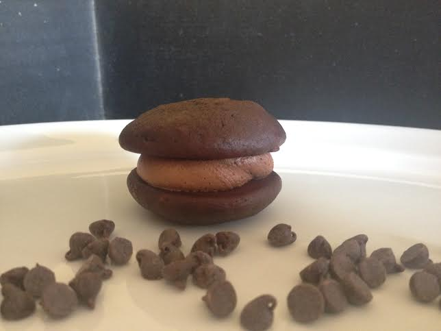 12 Pack- Medium Triple Chocolate Whoopie Pies (Birthday Party Size)