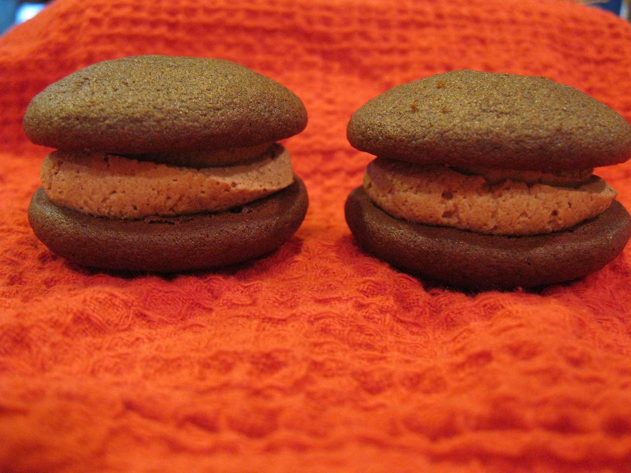 Dozen Mini Chocolate Mousse Whoopie Pies