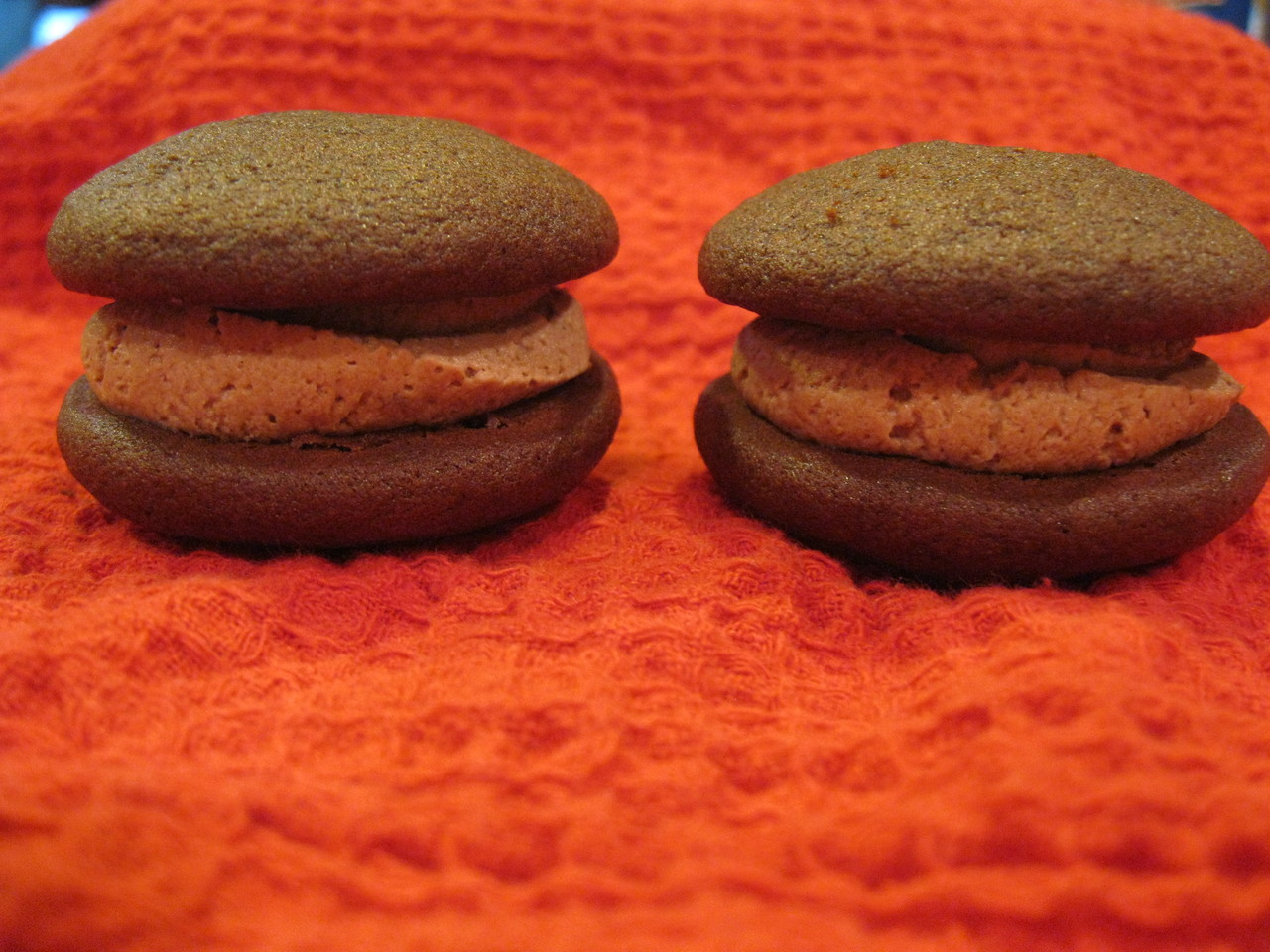 12 Pack- Medium Chocolate Mousse Whoopie Pies (Birthday Party Size)