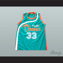 Flint Tropics 33 Jackie Moon Teal Basketball Jersey Semi Pro