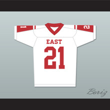 Landry Clarke 21 East Dillon Lions Football Jersey Friday Night Lights White