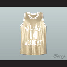 The Fresh Prince of Bel-Air Will Smith Bel-Air Academy Gold Basketball Jersey