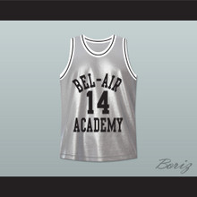 The Fresh Prince of Bel-Air Will Smith Bel-Air Academy Silver Basketball Jersey