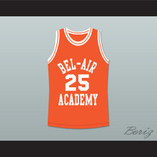 The Fresh Prince of Bel-Air Alfonso Ribeiro Carlton Banks Bel-Air Academy Orange Basketball Jersey