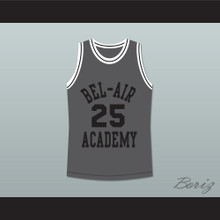 The Fresh Prince of Bel-Air Alfonso Ribeiro Carlton Banks Bel-Air Academy Gray Basketball Jersey