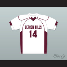 Isaac Lahey 14 Beacon Hills Cyclones Lacrosse Jersey Teen Wolf White