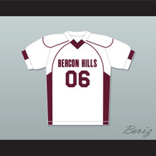 Danny Mahealani 06 Beacon Hills Cyclones Lacrosse Jersey Teen Wolf White