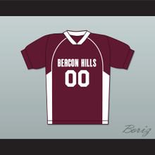 Derek Hale 00 Beacon Hills Cyclones Lacrosse Jersey Teen Wolf Maroon Style