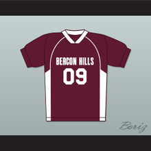 Liam Dunbar 09 Beacon Hills Cyclones Lacrosse Jersey Teen Wolf Maroon Style