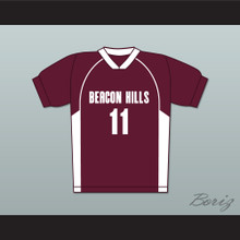 Scott McCall 11 Beacon Hills Cyclones Lacrosse Jersey Teen Wolf Maroon Style