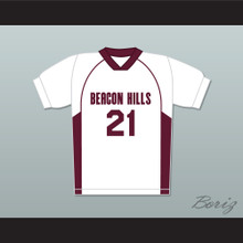 Greenberg 21 Beacon Hills Cyclones Lacrosse Jersey Teen Wolf White Style