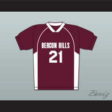 Greenberg 21 Beacon Hills Cyclones Lacrosse Jersey Teen Wolf Maroon Style