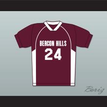 Stiles Stilinski 24 Beacon Hills Cyclones Lacrosse Jersey Teen Wolf Maroon Style