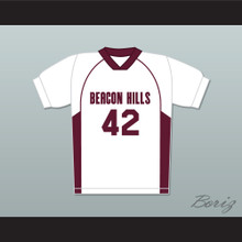 Scott Howard 42 Beacon Hills Cyclones Lacrosse Jersey Teen Wolf White Style