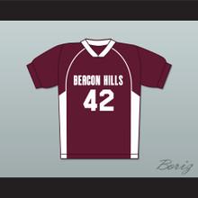 Scott Howard 42 Beacon Hills Cyclones Lacrosse Jersey Teen Wolf MaroonStyle
