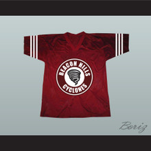 Isaac Lahey 14 Beacon Hills Cyclones Lacrosse Jersey Maroon