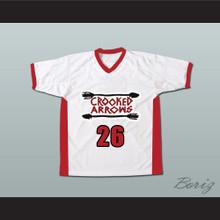 Crooked Arrows Tyler Hill Silverfoot Lacrosse Jersey White