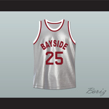 Saved By The Bell Zack Morris 25 Bayside Tigers Basketball Jersey