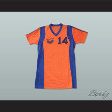 Los Angeles Aztecs Football Soccer Shirt Jersey Orange