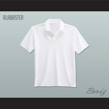 Men's Solid Color Alabaster Polo Shirt