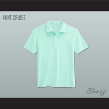 Men's Solid Color Mint Cruise Polo Shirt