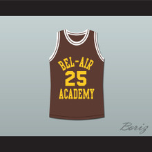 The Fresh Prince of Bel-Air Alfonso Ribeiro Carlton Banks Bel-Air Academy Brown Basketball Jersey