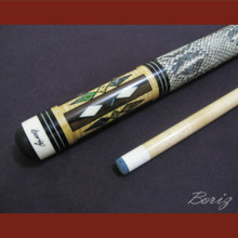 Boriz Billiards Snake Skin Grip Pool Cue Stick Original Inlay Artwork 002