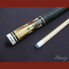 Boriz Billiards Linen Grip Pool Cue Stick Original Inlay Artwork 003