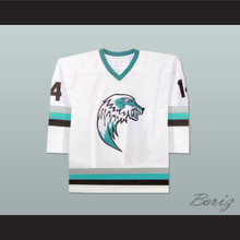 The Lansing Ice Wolves Derek Thompson 14 Minor League Hockey Jersey