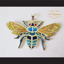 P Middleton Bee Pendant Sterling Silver .925 with Micro Inlay Stones