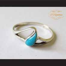 P Middleton Teardrop Turquoise Ring Sterling Silver .925