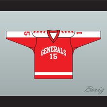 1970 EHL Greensboro Generals Red Hockey Jersey