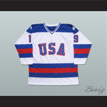 1980 Miracle On Ice Team USA Eric Strobel 19 Hockey Jersey White