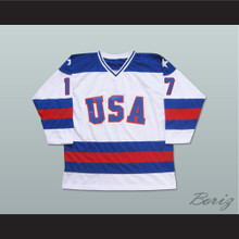 1980 Miracle On Ice Team USA Jack O'Callahan 17 Hockey Jersey White