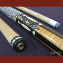 Boriz Billiards Snake Skin Grip Pool Cue Stick Original Inlay Artwork 013