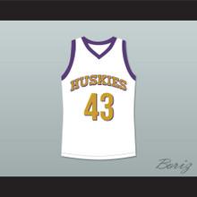 Marlon Wayans Kenny Tyler 43 Huskies Basketball Jersey The 6th Man White