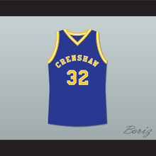 Monica Wright 32 Crenshaw High School Blue Basketball Jersey Love and Basketball