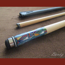 Boriz Billiards Cue Stick Original Inlay Artwork 052