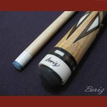 Boriz Billiards Linen Grip Pool Cue Stick Original Inlay Artwork 020