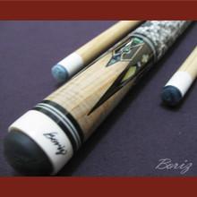 Boriz Billiards Snake Skin Grip Pool Cue Stick Original Inlay Artwork 022